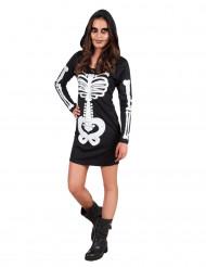 Disfraz de esqueleto con capucha adolescente Halloween