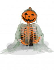 Decoración esqueleto calabaza 52 cm Halloween