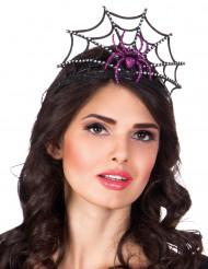 Diadema tiara araña violeta mujer Halloween