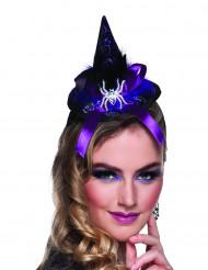 Mini sombrero de bruja araña mujer Halloween
