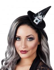 Mini sombrero bruja lentejuelas mujer Halloween