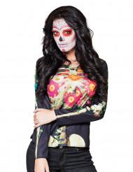 Camiseta manga larga esqueleto Día de los Muertos