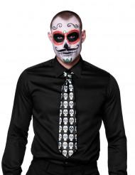 Corbata esqueleto adulto Día de los Muertos