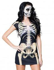Disfraz vestido esqueleto mujer Halloween