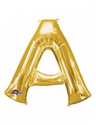 Globo aluminio letra A dorado 33 cm