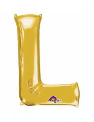 Globo de aluminio Dorado letra L 33cm