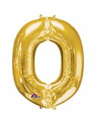 Globo de aluminio dorado O 33cm