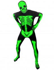 Disfraz de esqueleto fosforescente adulto Morphsuits™