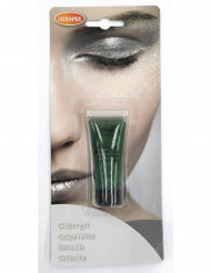 Maquillaje gel purpurina verde