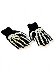 Guantes esqueleto LED adulto Halloween