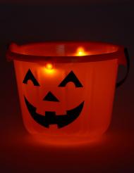 Cubo de calabaza LED 22x17 cm Halloween