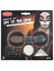 Kit maquillaje color mujer Día de los muertos