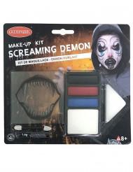 Kit maquillaje demonio amenazante Halloween