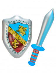 Espada y escudo hinchables
