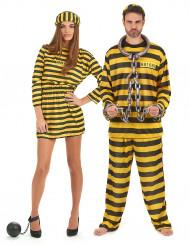 Disfraz de pareja presos amarillo
