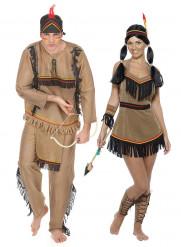 Disfraz de pareja india adulto