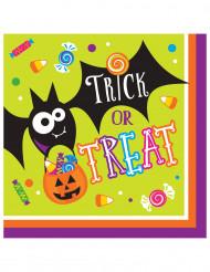 16 Servilletas papel Truco o Trato Halloween 33 cm