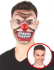 Máscara payaso terrorífico transparente adulto