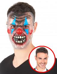 Máscara transparente payaso terrorífico adulto
