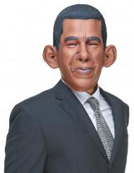 Máscara humorística de látex Barack adulto