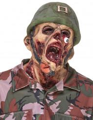 Máscara látex soldado zombie adulto