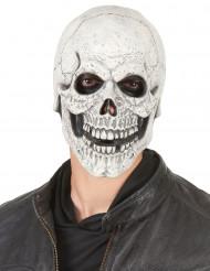 Máscara esqueleto sonriente látex adulto