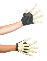 Guantes manos esqueleto adulto