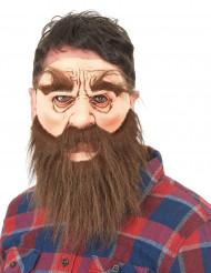 Máscara látex Hombre Barbudo adulto