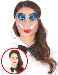 Máscara de mujer maquillada