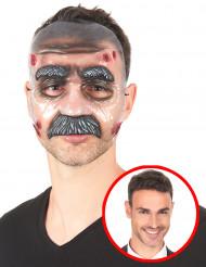 Máscara transparente hombre con bigote adulto