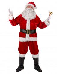 Disfraz completo Papá Noël lujo adulto
