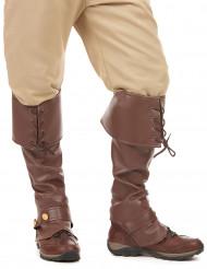 Cubre botas marrón efecto cuero adulto