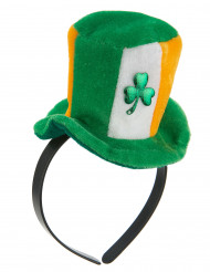 Diadema mini sombrero irlandés con trébol adulto