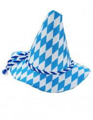 Sombrero de bávaro azul y blanco adulto