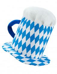 Sombrero jarra de cerveza azul y blanco adulto