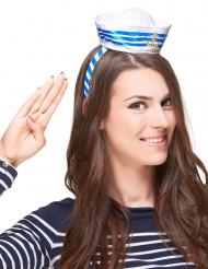 Diadema mini sombrero marinero adulto