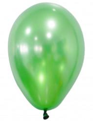 50 Globos verde metálico