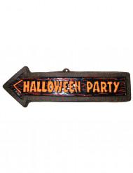 Decoración mural flecha Halloween Party 57x19 cm
