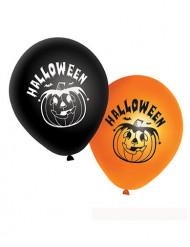 20 Globos naranjas y negros calabazas Halloween