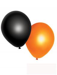 10 Globos naranjas y negros Halloween