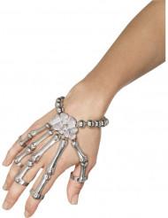 Pulsera y anillos esqueleto adulto Halloween