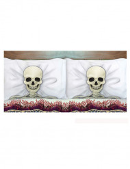 2 Fundas de almohada esqueleto 53x81 cm Halloween