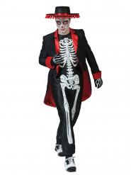 Disfraz de esqueleto mexicano hombre Día de los Muertos