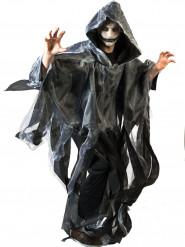Capa blanca y negra adulto Halloween