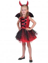 Disfraz diablesa tutú con alas niña Halloween