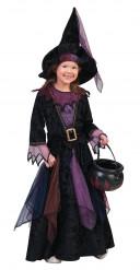 Disfraz de bruja terciopelo niña Halloween