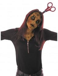 Diadema tijeras sangrientas adulto Halloween