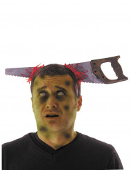 Diadema con sierra ensangrentada adulto Halloween