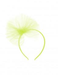 Diadema lazo tul verde