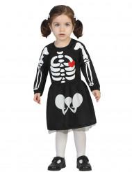 Disfraz de esqueleto bebé niña Halloween